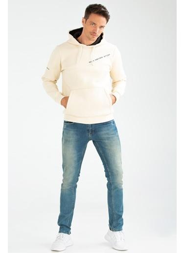Speedlife Suffocate Erkek Sweatshirt Bej
